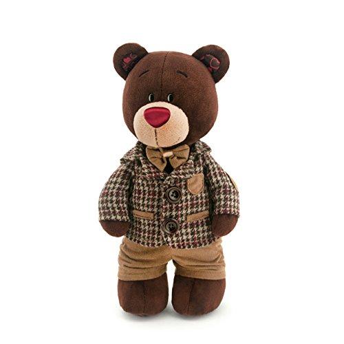 Orange Toys c5047/25 - Choco Debout dans karierter Veste, Doudou pour Adultes et Enfants dans Emballage Cadeau, 25 cm, Marron