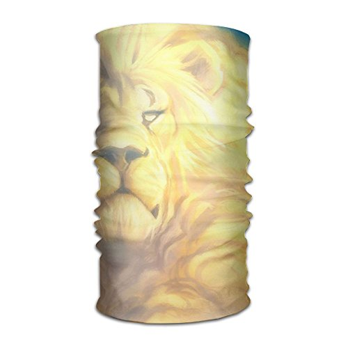 Pengyong Gold Lion of King In Sky Unisex Fashion schnell trocknend Microfaser Kopfschmuck Outdoor Magic Schal Halstuch mit Kapuze Superweicher Griff - Adidas Sportliche Wrap