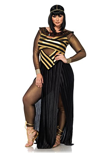 Kostüm Set Nil Königin, Damen Fasching, 3X-4X, schwarz/gelb (3x Kostüm)