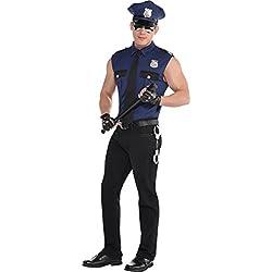 Amscan Costume Under Arrest Police Officer para hombre, color azul, L (845778-55)