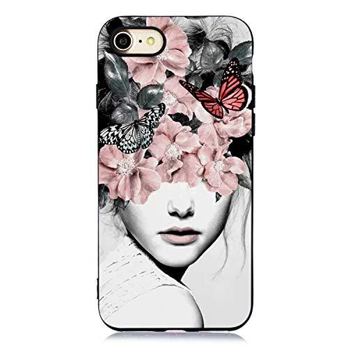 6 Flower Mädchen-top (Durchsichtige Kristal Klar Clear Glitter Bumper für iPhone 6S 6 Plus)