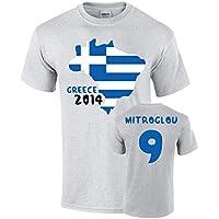 Greece 2014 Country Flag T-shirt (mitroglou 9)