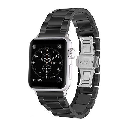 Aottom Armband für iWatch 42mm,Armband Apple Watch Series 3 42mm Keramik Ersatzarmband Armbänder iWatch 44mm Series 4 Uhrenarmband Smartwatch Band mit Metallschließe für Apple Watch 42mm/44mm