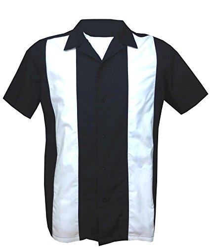 Casual,1950s/1960s Rockabilly ,Bowling, Retro, Vintage Men's Shirt