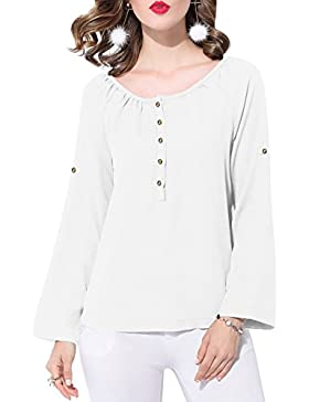 SUNNOW - Camiseta de manga larga - para mujer