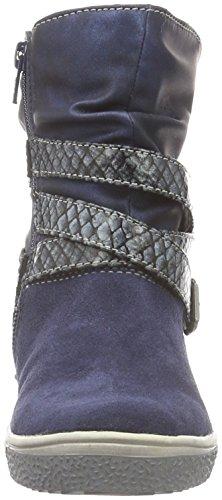 indigo by Clarks Stiefelette, Bottes mi-hauteur avec doublure chaude fille Bleu - Blau (830 Navy VL)