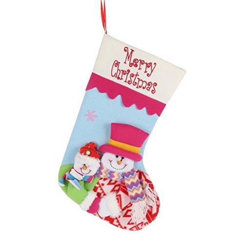 PanDaDa Weihnachtsstrümpfe Weihnachtsmann Schneemann Nette Süßigkeits Geschenk Beutel Weihnachtsbaum hängende Verzierungen Partei Dekoration (Für Partei Kostüm Weihnachten Ideen)
