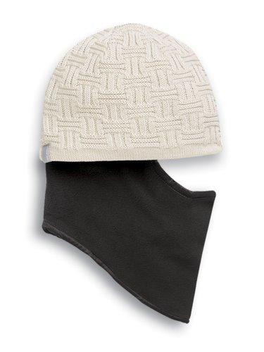 Seirus Innovation Clem Hat Quick Clava Beanie mit integrierter Pull-Down-Maske für zusätzlichen Schutz von Gesicht und Nacken, Herren, 2854.0, Stone, Einheitsgröße - Clava Band