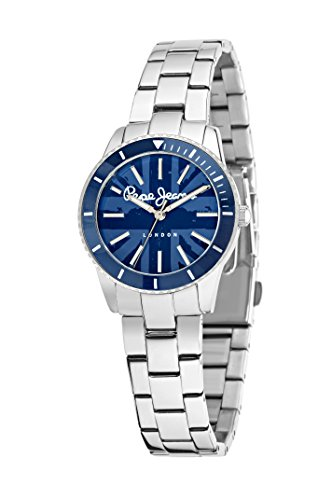 Pepe Jeans Charlie Women's Quartz Watch with Blue Dial Analogue Display and Blue Leather Strap R2351105005