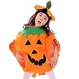 JT-Amigo Disfraz de Calabaza Halloween para Niña, 3-5 años