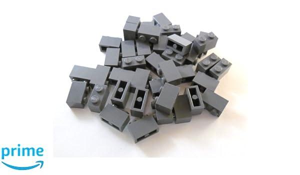 35 NEW LEGO Tile 1 x 2 BRICKS Dark Bluish Gray
