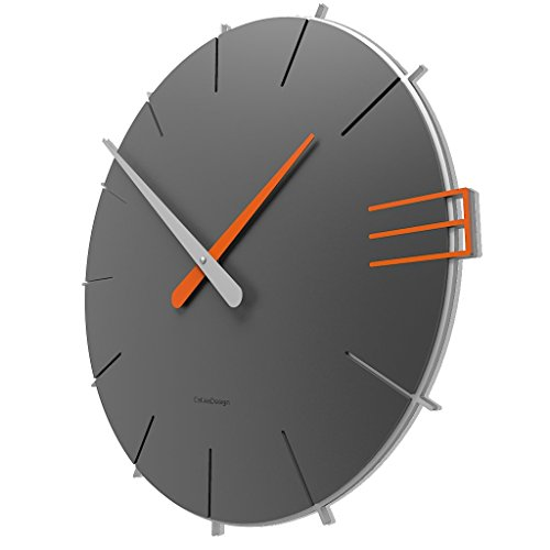 Calleadesign - Wanduhr Mike, Quarzgrau