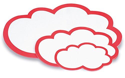 magnetoplan 111152003 Moderationskarten und wolken klein, 420 x 250 mm