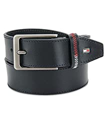 Tommy Hilfiger Mens Leather Belt (8903496088120_TH/ARLIN08XL/NVY)