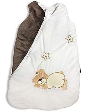 Ganzjahres Baby-Schlafsack in 70cm länge| leicht wattiert mit Baumwolle in 2,5TOG für Winter und Sommer | Erstausstattung...
