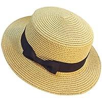 ZARLLE Sombrero De Paja ala Ancha Paja Bowknot Transpirable Sombrero  Sombreros para El Sol del Verano 092a9d52dd6