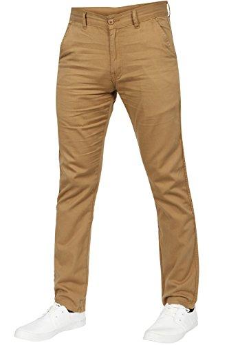 Newfacelook Pour Des Hommes Chino Slim fit Jeans Mode Denim Pantalon Kaki