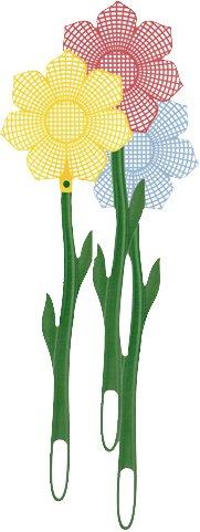 Eva Collection-Kaufgut Kehrschaufel Fliegen Blume cm 48