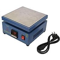 Placa calefactora electrónica LCD, estación de precalentamiento de placa calefactora electrónica digital de 110V/220V LCD para reemplazo de pantalla del teléfono(EU)