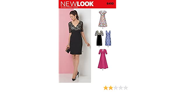 New Look Ladies Sewing Pattern 6410 Evening Dresses in 4 Styles: Amazon.co.uk: Kitchen & Home