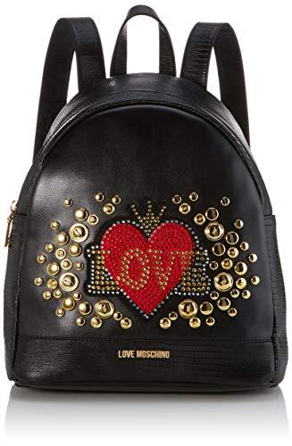 Love moschino pu, borsa a zainetto donna, (nero), 30x11x28 cm (w x h x l)