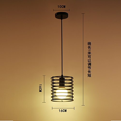 Luckyfree Kreative Modern Fashion Anhänger Leuchten Deckenleuchte Kronleuchter Schlafzimmer Wohnzimmer Küche, der schwarze Zylinder Heizung 9 Watt-LED -