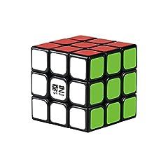 Idea Regalo - QIYI Sail Cubo magico 3x3x3 | Cubo di Rubik di ultima Generazione veloce e liscio | Materiale durevole e non tossico | Cubo Magico per adulti e ragazzi | Nero