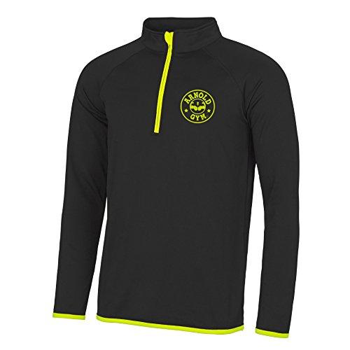 Arnold Gym -  Felpa  - Impermeabile - Uomo Black / Yellow