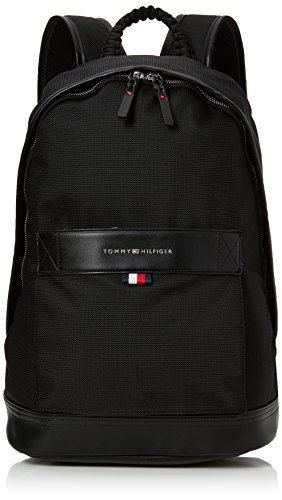 Tommy Hilfiger Herren Tommy Tailored Backpack Rucksack, Schwarz (Black), 18x45x30 cm