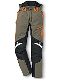 Stihl Pantalon de protection Fonction ERGO Vert olive / orange / noir
