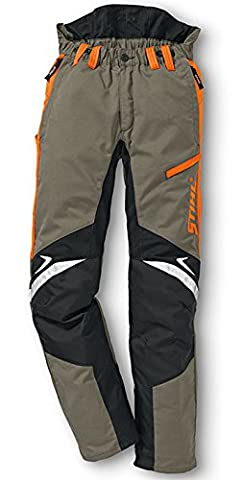Stihl Work Trousers with Cut-Protection Ergo Olive Green/Orange/Black, 56, 1