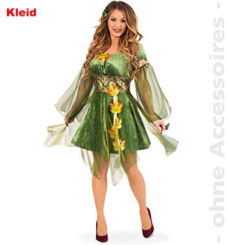 Günstige Erwachsene Für Kostüm Tinkerbell - Kostüm Waldelfe Kleid grün Herbstfee Fasching Garten Elfe Fee Waldfee (40)