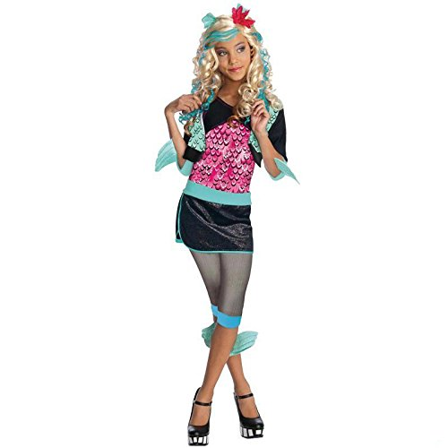 Monster High Lagoona Blue Gr. L (8-10 Jahre) Fasching Karneval Kostüm Kinderkostüm Mottoparty Kleid Boo York