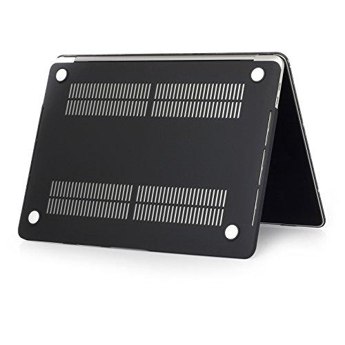 Se7enline Sanfte Schutzschale, Kunststoff, mit schwarzem Tastaturschutz aus Silikon und transparenter Displayschutzfolie, Design: schwarze Kreise, für Macbook Galaxy Space Universe02