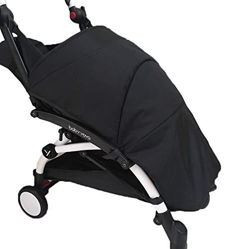 Sacco Termico lungo/Copertura per piede/Parapioggia e vento - adatto per passeggino yoyo e yoya (Black)
