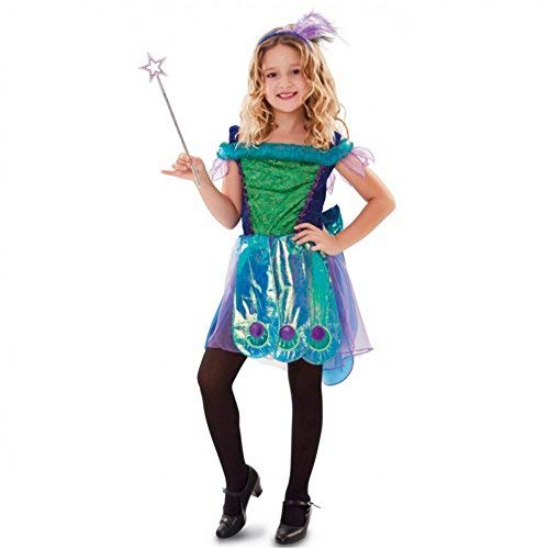 Fyasa 706385-t01Fantasy Fairy Fancy Dress Kostüm, blau, mittel