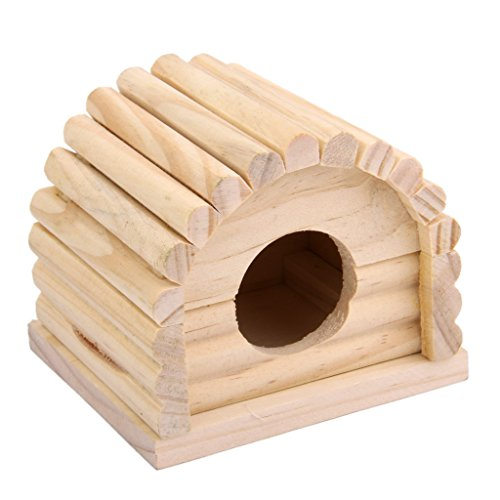 Bois Naturel Maison de Hamster Jouet Amovible Pour...