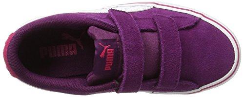 Puma Unisex Kids  1948 Vulc V PS Trainers   Dark Purple-White 12   13UK Child