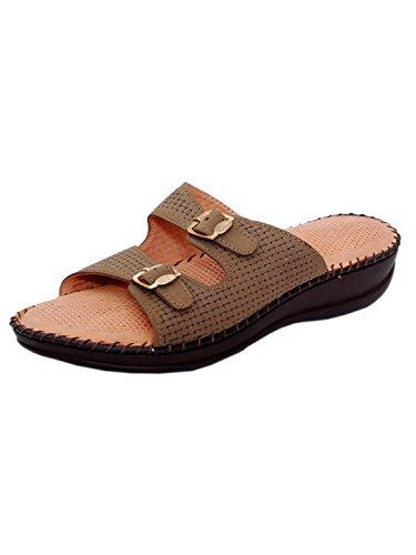 1 WALK Women's Cheeku PU Sandals - 5 UK