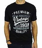 1938 Vintage Year - Aged To Perfection - 80. Geburtstag geschenk T-Shirt für Herren Schwarz L