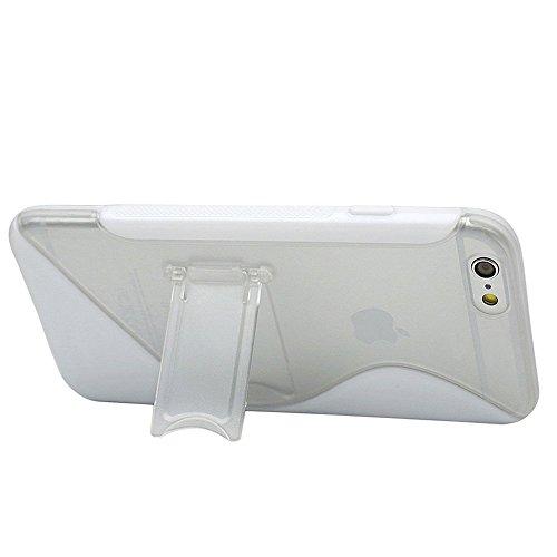 Flip-Case APPLE IPHONE 6 / 6S [Le Clap Touch Premium] [Blau] von MUZZANO + 3 Display-Schutzfolien UltraClear + STIFT und MICROFASERTUCH MUZZANO® GRATIS - Das ULTIMATIVE, ELEGANTE UND LANGLEBIGE Schutz Weiss + 3 Displayschutzfolien