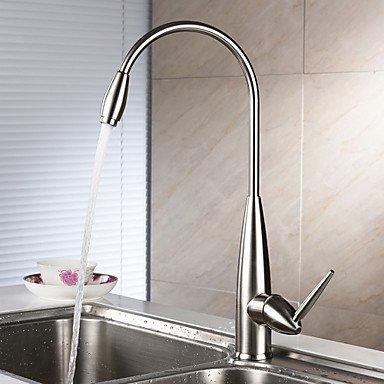 Preisvergleich Produktbild Centerset einzigen Griff Einloch mit Nickel gebürstet Küchenarmatur , light slate gray