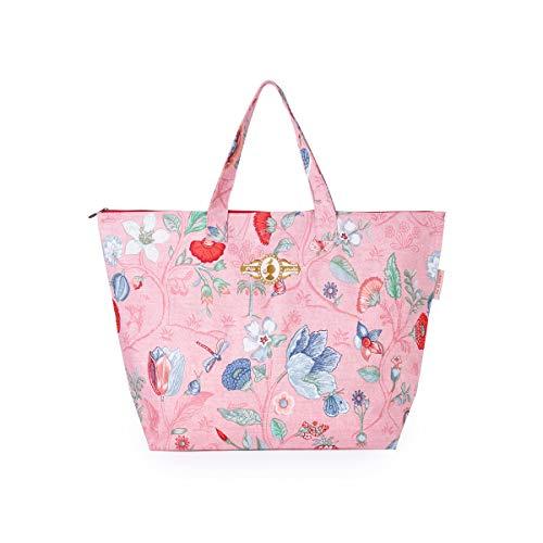 Pip Studio Strandtasche Spring To Life Petit Pink Blumen Bluten Strand Urlaub