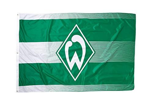 Werder Bremen Unisex- Erwachsene 17573 Fanartikel-Hissfahne klein-180 x 120 cm-Flagge/Fahne, M