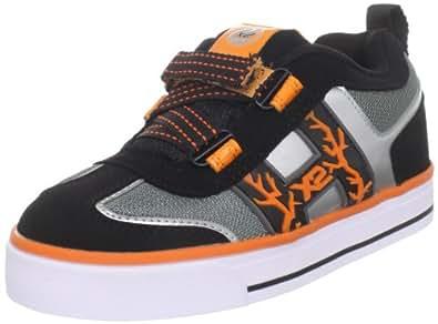 Heelys Bolt, Chaussures de skate garçon - Noir (Black White Orange), 31 EU (12 UK)