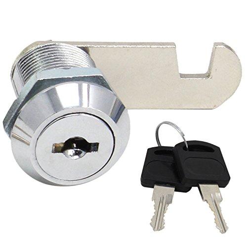 HSeaMall Sicherheit Postfachschloss Edelstahl Schrank Schrank Schrank Nockenschloss mit gleicher Schlüssel 20mm (20mm Drawer lock) (Schublade-schrank Lock-große)