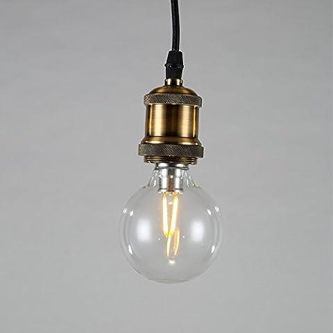 Lightess Lampenfassung Kupfer Vintage Retro Antike Edison Pendelleuchte Hängelampe Halter