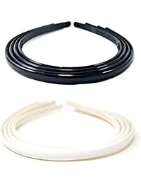 Anokhi ADA Daily Use Black And White Plastic Sleek Hair Bands For Girls (Combo Of 8 Hair Bands) 011