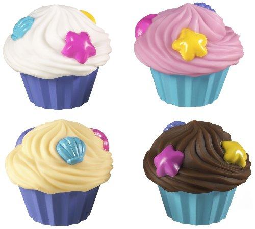 Munchkin - Wasserspritzende Cupcakes Badespielzeug, 4er-Pack