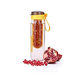 Steelo Plastic Fruit Infuser Bottle, 750ml, Yellow